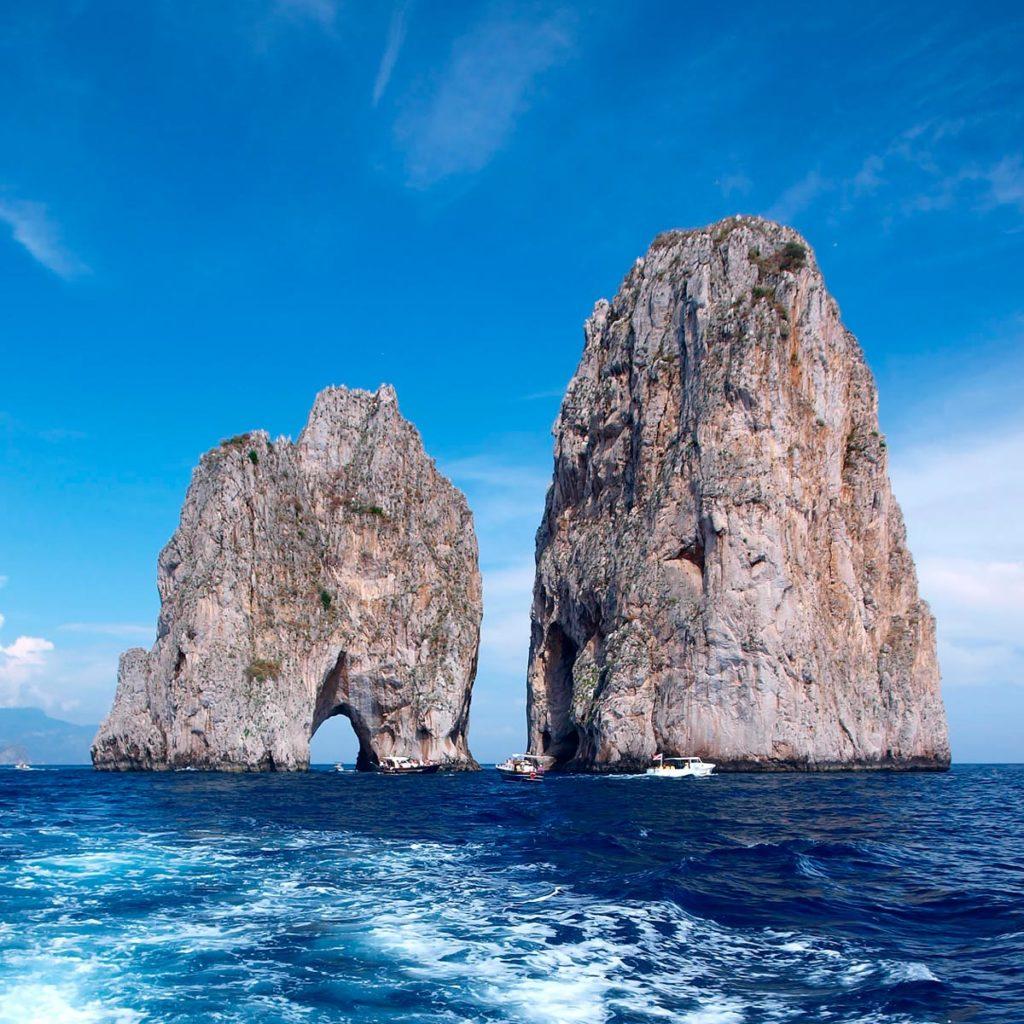 Faraglioni, Capri Excursion -Jolly Boat Positano